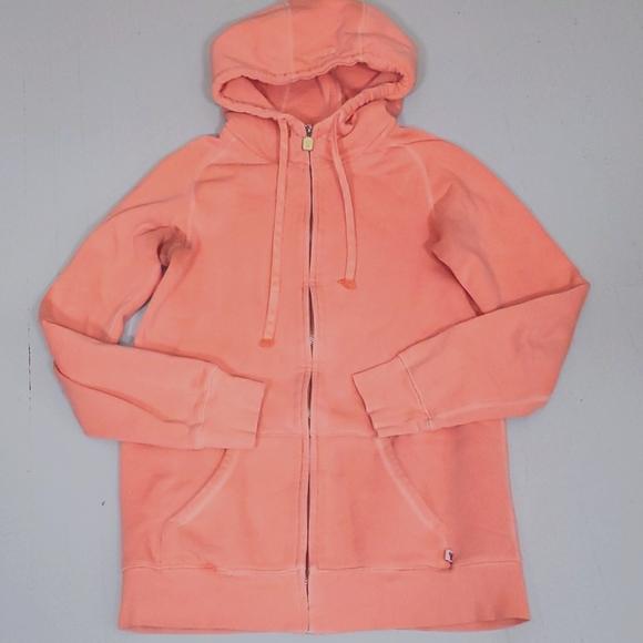 TNA neon orange full zippered hoodie